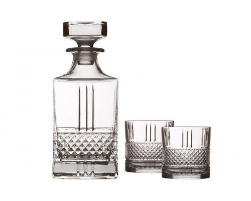 Набор для виски: декантер + 2 стакана Verona Maxwell & Williams в подарочной упаковке