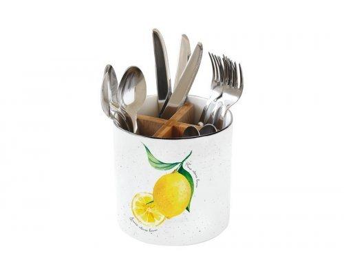 Банка-подставка под кухонные инструменты, столовые приборы Amalfi Easy Life (R2S) в подарочной упаковке
