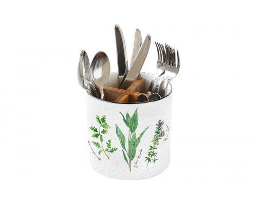 Банка-подставка для кухонных инструментов и столовых приборов Herbarium Easy Life (R2S) в подарочной упаковке