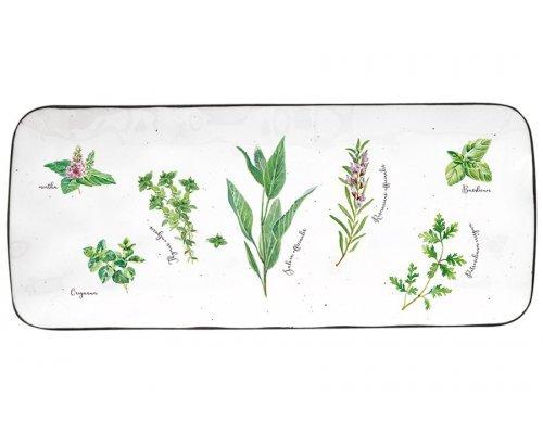 Блюдо прямоугольное Herbarium Easy Life (R2S) в подарочной упаковке