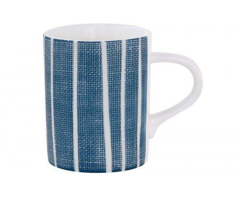 Кружка (синий с белыми полосками) Бриз Easy Life (R2S) без индивидуальной упаковки 0.37 л