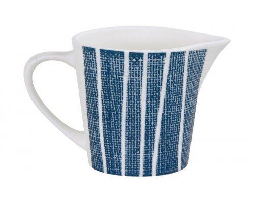 Молочник (синий с белыми полосками) Бриз Easy Life (R2S) без индивидуальной упаковки