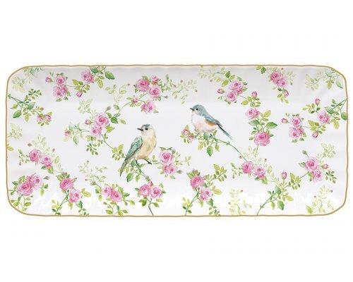 Блюдо прямоугольное Птицы в саду Easy Life (R2S) в подарочной упаковке