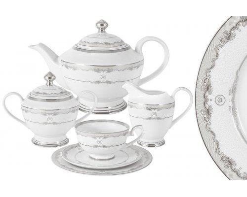 Чайный сервиз Корона (серебро) Midori 23 предмета на 6 персон