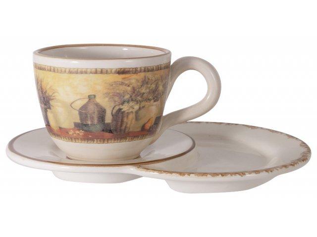 Чашка на блюдце-подносе Натюрморт LCS