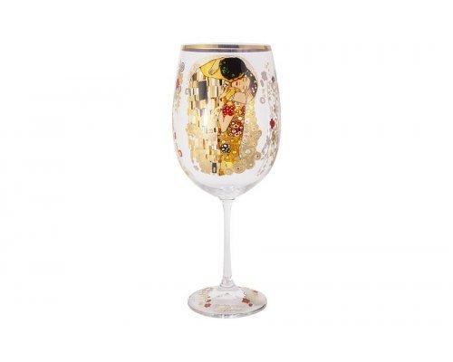 Бокал для вина Поцелуй (Г.Климт) в подарочной упаковке