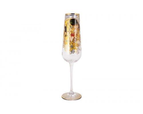 Бокал для шампанского Поцелуй (Густав Климт) в подарочной упаковке