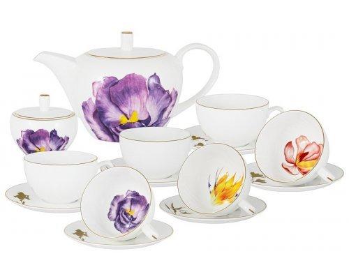 Чайный сервиз Flowers Anna Lafarg Emily 14 предметов