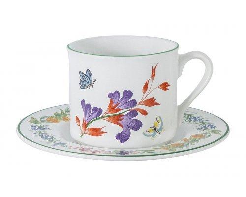Чашка с блюдцем Летняя сказка Imari 0,2 л в подарочной упаковке