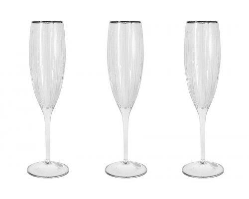 6 бокалов для шампанcкого Пиза серебро Same