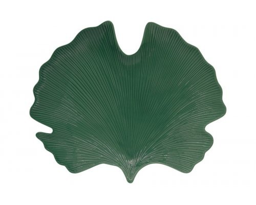 Блюдо Листок гинкго зеленый Easy Life 35х29 см