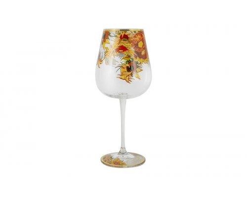 Бокал для вина Подсолнухи (Ван Гог) Carmani 0,63 л