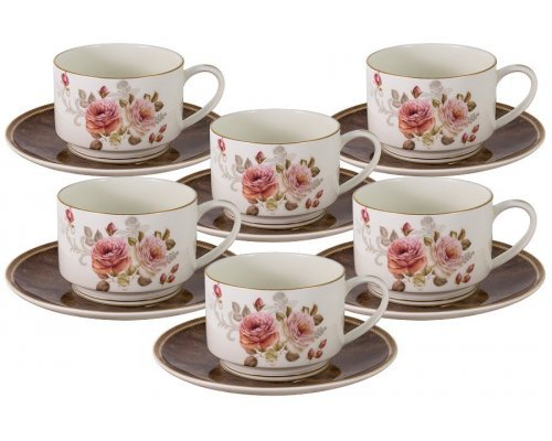 Чайный набор Английская роза Anna Lafarg Emily на 6 персон 0,2 л
