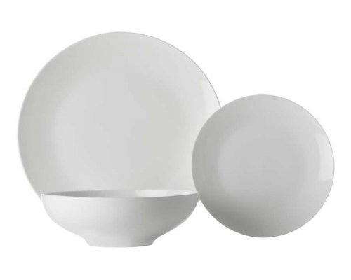 Обеденный сервиз Белая коллекция, 6 персон, 18 предметов