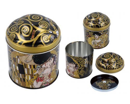 Банка для чая Поцелуй (Густав Климт) Carmani