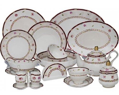 Чайно-столовый сервиз Lenardi Венок на 12 персон 88 предметов в подарочной упаковке