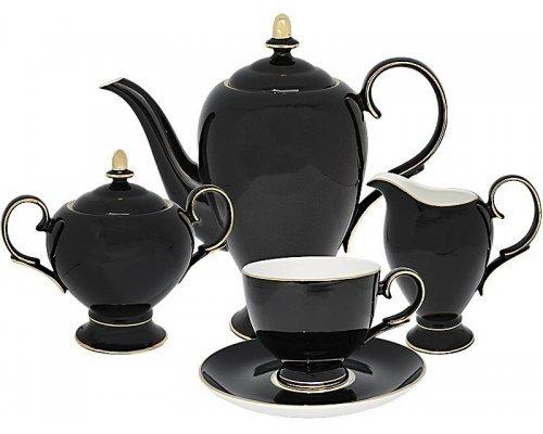 Чайный сервиз Black Lenardi на 6 персон 15 предметов