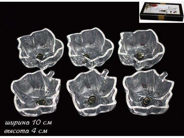 Набор 6 розеток Lenardi в подарочной упаковке Стекло