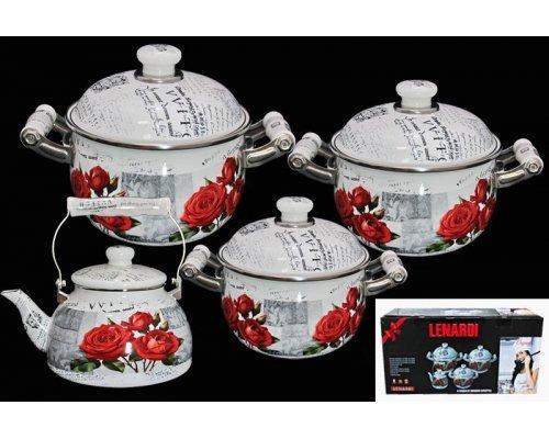 Набор посуды для приготовления Lenardi в подарочной упаковке 777-054