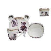 Детский набор посуды Lenardi из 3 предметов в подарочной упаковке