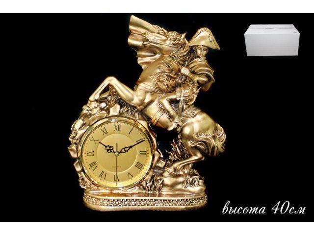 Часы Lenardi декоративные настольные 40см. Полистоун