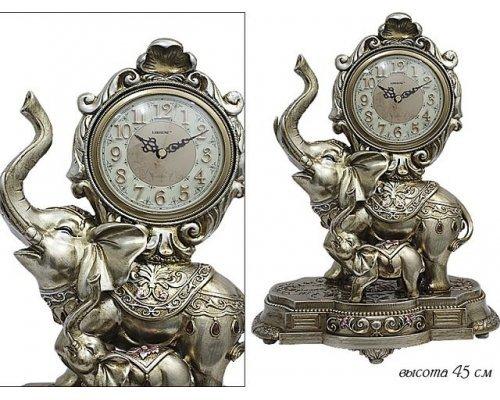 Часы Lenardi настольные Слон 45см Полистоун