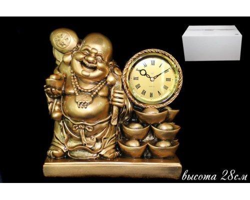 Часы Lenardi декоративные настольные 28см. Полистоун