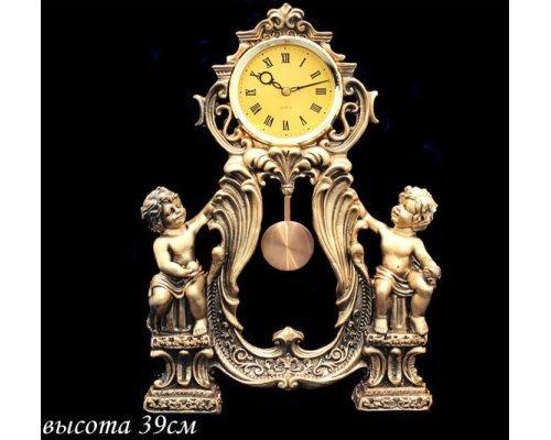 Часы Lenardi декоративные настольные 39см. Полистоун