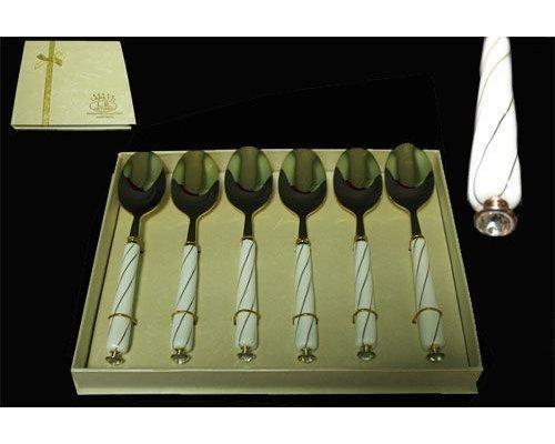 Набор из 6 ложек Lenardi Kristal de lux в подарочной упаковке