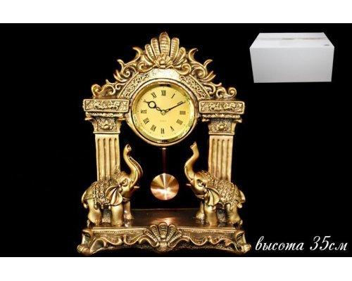 Часы Lenardi декоративные настольные 35см. Полистоун
