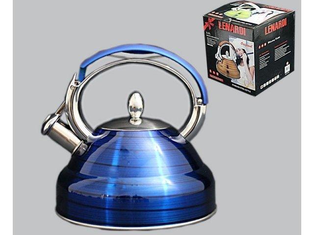 Чайник со свистком Lenardi 3л. в подарочной упаковке Нержавеющая сталь