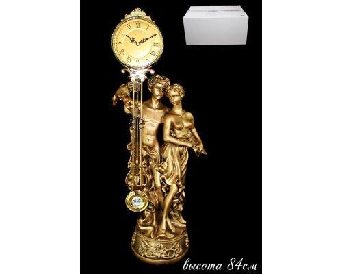 Часы декоративные настольные 84 см. Полистоун.
