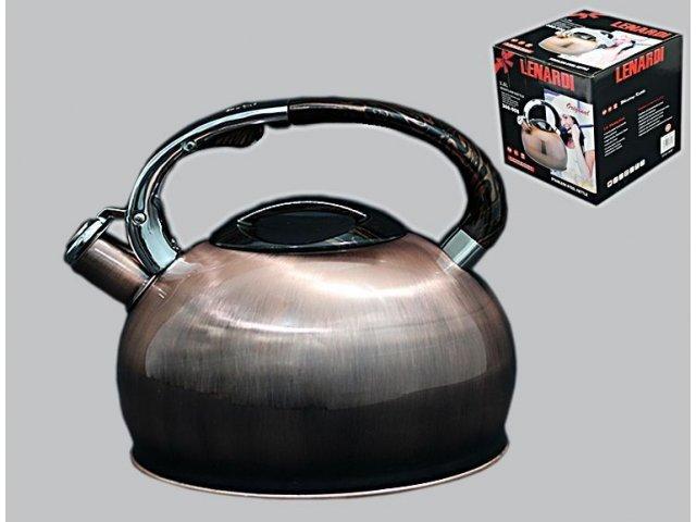Чайник со свистком Lenardi 2,5л. в подарочной упаковке Нержавеющая сталь