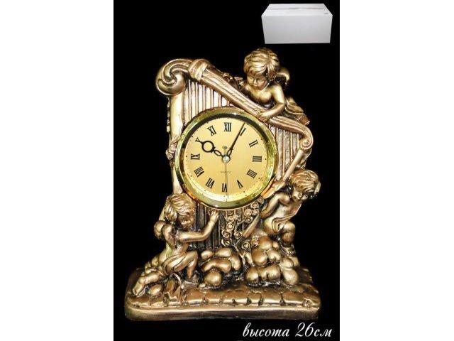 Часы декоративные настольные 26 см. Полистоун.