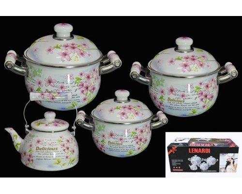 Набор посуды для приготовления Lenardi Розовый рай в подарочной упаковке