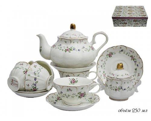 Чайный сервиз Lenardi Розали на 6 персон 16 предметов в подарочной упаковке Фарфор