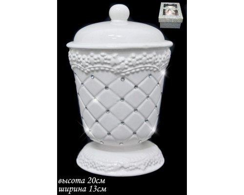 Сахарница с крышкой Lenardi Северное сияние 13см. в подарочной упаковке Керамика