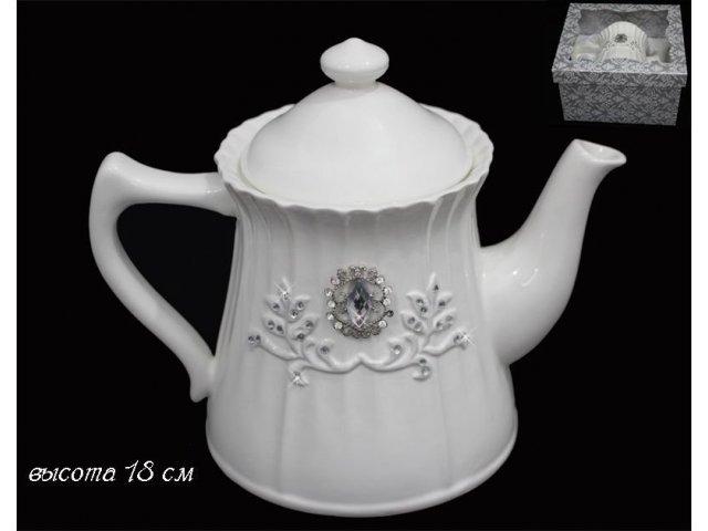 Чайник Lenardi Алмазная ветка в подарочной упаковке Керамика