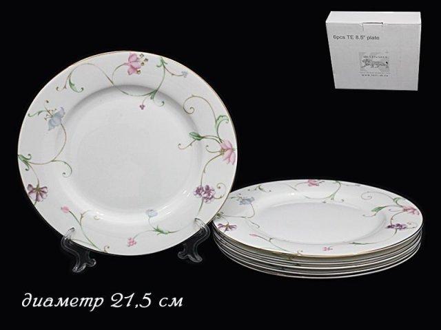 Набор 6 тарелок 21,5см Lenardi Английский сад в подарочной упаковке