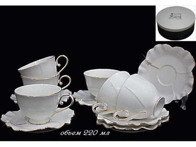 Чайный набор Lenardi Lucia на 6 персон 12 предметов в подарочной упаковке