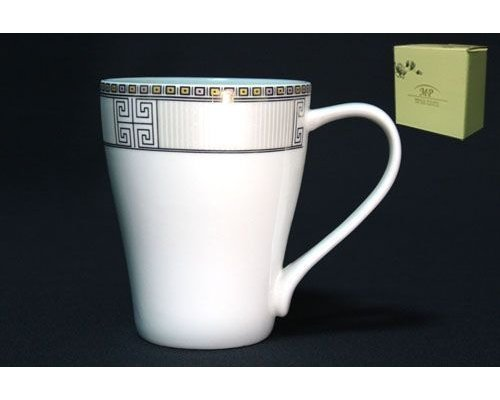 Кружка Lenardi Узор в подарочной упаковке 350мл Костяной фарфор