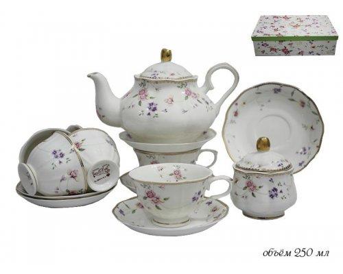 Чайный сервиз Lenardi Флоренс на 6 персон 16 предметов в подарочной упаковке Фарфор
