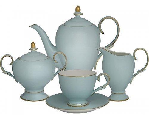 Чайный сервиз Blue Lenardi на 6 персон 15 предметов