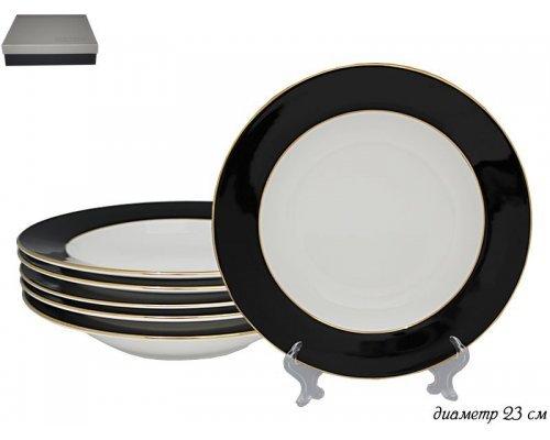 Набор из 6 глубоких тарелок 23 см Black Lenardi