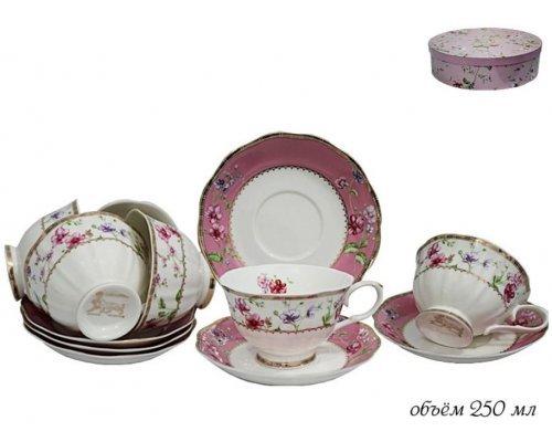 Чайный набор Lenardi Розали на 6 персон 12 предмето в подарочной упаковке Фарфор