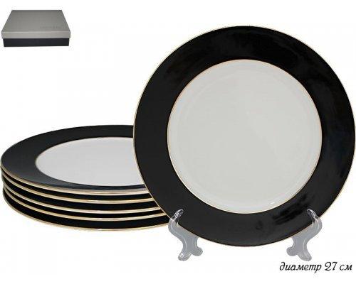 Набор из 6 тарелок 27 см Black Lenardi