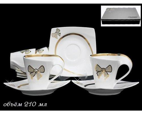 Чайный набор в подарочной упаковке Lenardi Бантик на 6 персон 12 предметов Фарфор