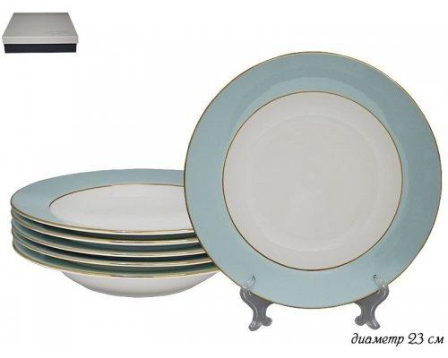 Набор из 6 глубоких тарелок 23 см Blue Lenardi