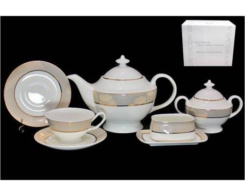Чайный сервиз Золотая симфония Lenardi на 6 персон 18 предметов
