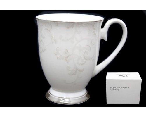 Кружка Lenardi Серый шелк в подарочной упаковке Костяной фарфор